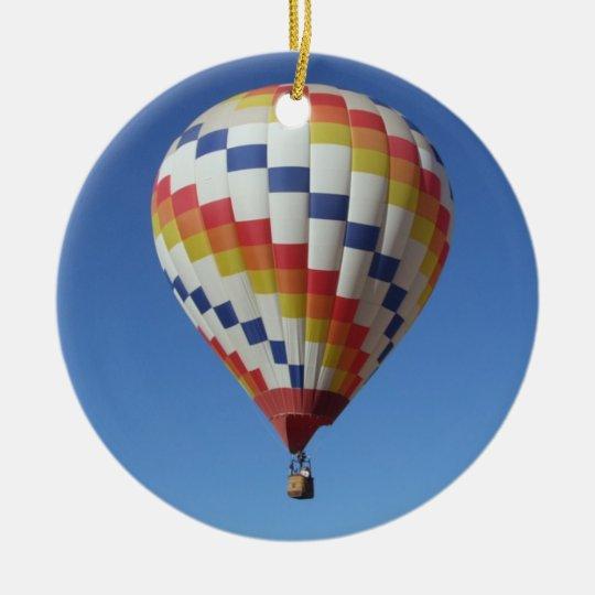 Hot Air Balloon in a Blue Sky Christmas
