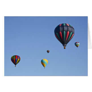 Hot Air Balloon Launch Greeting Card