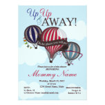 Hot Air Balloon Lil Man Shower Invitation
