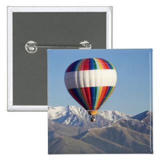Hot-air Balloon, near Methven, Canterbury 15 Cm Square Badge
