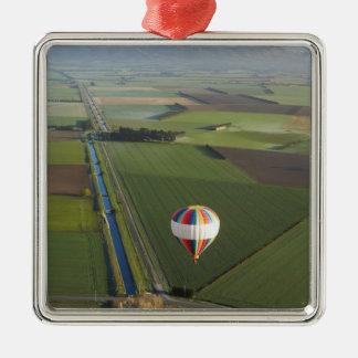 Hot-air Balloon, near Methven, Canterbury Silver-Colored Square Decoration