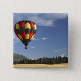 Hot Air Balloon near Wanaka, South Island, New 15 Cm Square Badge
