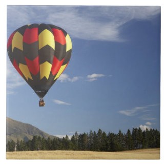 Hot Air Balloon near Wanaka, South Island, New Large Square Tile