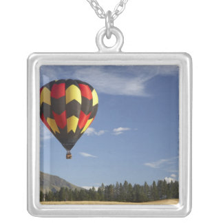 Hot Air Balloon near Wanaka, South Island, New Silver Plated Necklace