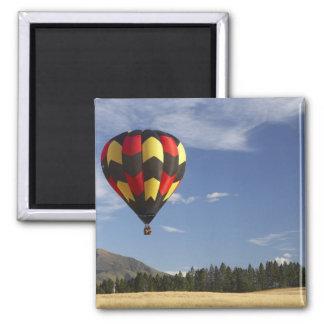 Hot Air Balloon near Wanaka, South Island, New Square Magnet
