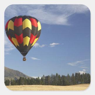 Hot Air Balloon near Wanaka, South Island, New Square Sticker