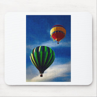 Hot Air Balloon Oil Painting Mouse Pads
