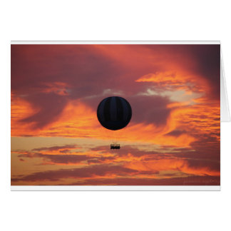 Hot Air Balloon on Fire in the Sky Card