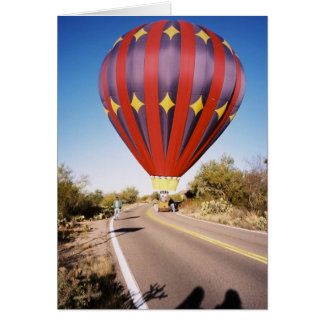 Hot Air Balloon on Roadway Card
