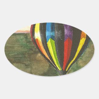 Hot Air Balloon Oval Sticker