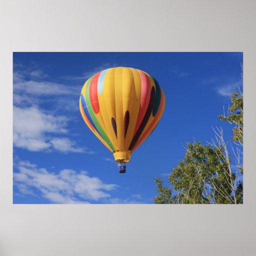 Hot Air Balloon over Quail Lake, Cheyenne Hills Poster