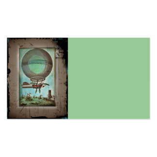 Hot Air Balloon Over the Harbor Business Card Template
