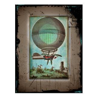 Hot Air Balloon Over the Harbor Postcard