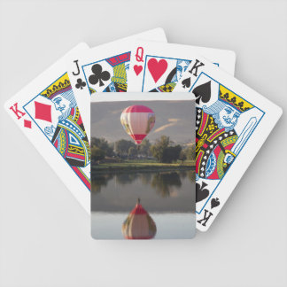 Hot air balloon over the Yakima River Bicycle Playing Cards