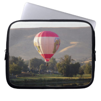 Hot air balloon over the Yakima River Laptop Sleeve