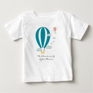 Hot Air Balloon Papercut Style Baby T-Shirt