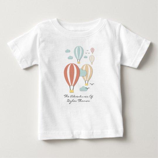Hot Air Balloon Papercuts Baby T-Shirt