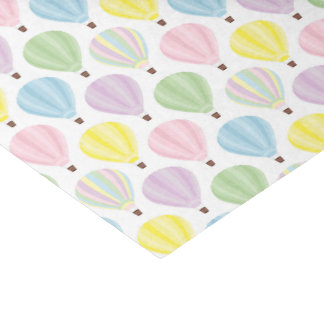 Hot Air Balloon Pastel Pattern Tissue Paper