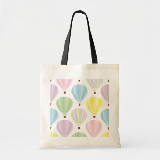 Hot Air Balloon Pastel Pattern Tote Bag