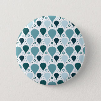 Hot air balloon pattern 6 cm round badge