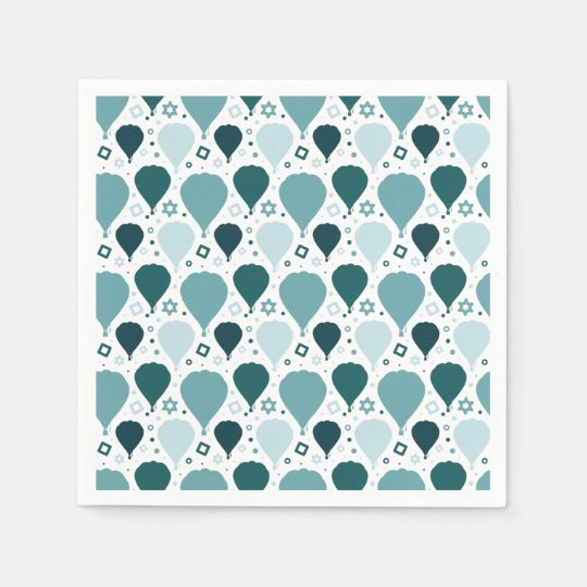 Hot air balloon pattern disposable napkin