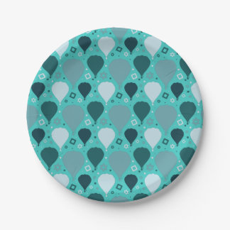 Hot air balloon pattern paper plate