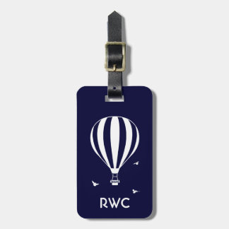 Hot Air Balloon Personalised Luggage Tag