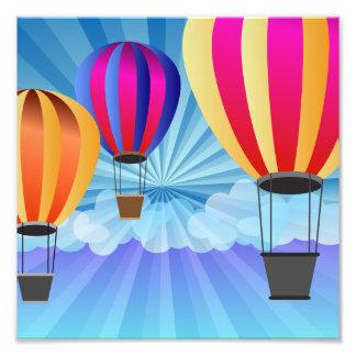 hot air balloon photo art