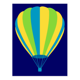 hot air balloon post card