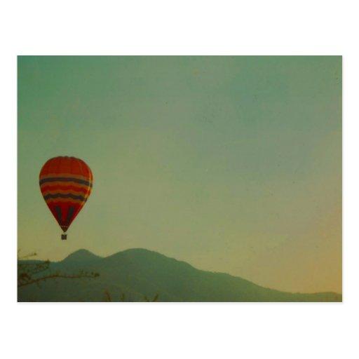 hot air balloon postcards