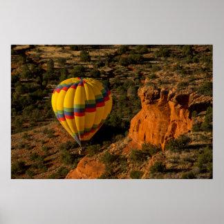 Hot air balloon, Red Rock, Coconino National Poster