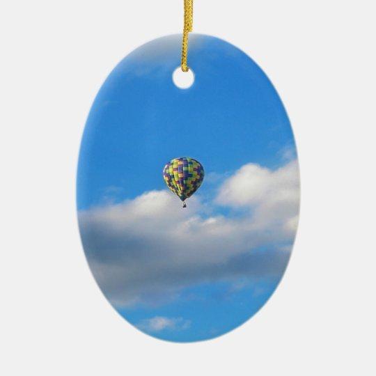 Hot Air Balloon Ride II Christmas Ornament