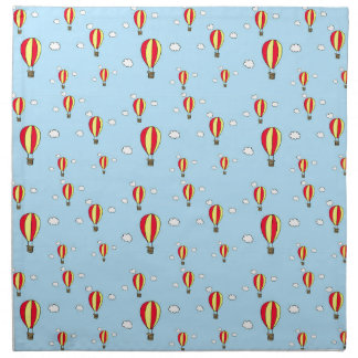 Hot air balloon ride napkin