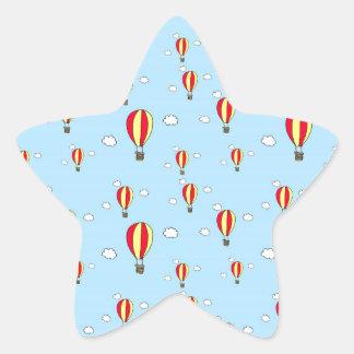 Hot air balloon ride star sticker