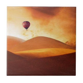 Hot air balloon small square tile