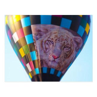 Hot Air Balloon, Snow Leopard, Olathe, Kansas Postcard