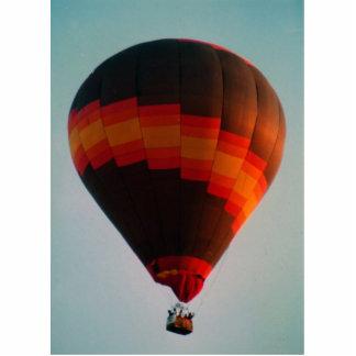 hot air balloon standing photo sculpture