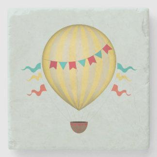 Hot Air Balloon Stone Beverage Coaster