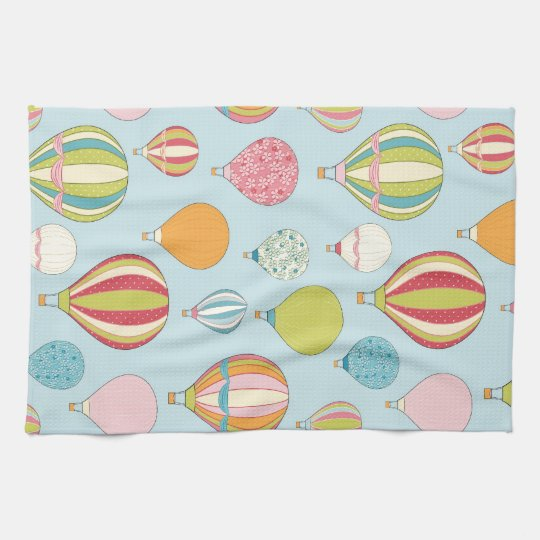 Hot Air Balloon Tea Towel