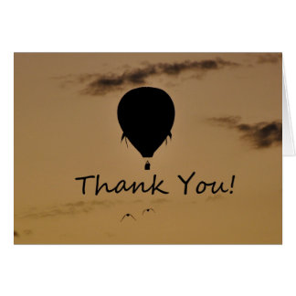 Hot Air Balloon Thank you Greeting Card