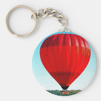 Hot air balloon to celebrate life basic round button key ring