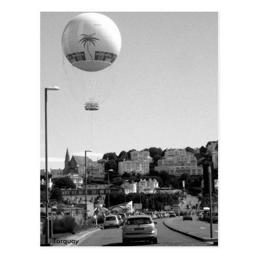 Hot Air Balloon , Torquay Post Card
