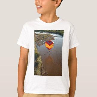 Hot Air Balloon Touching Rio Grande River T-Shirt