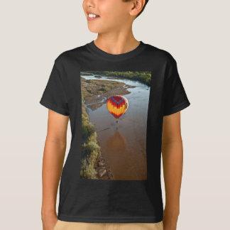 Hot Air Balloon Touching Rio Grande River Tshirts
