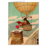 Hot Air Balloon Valentine's Day Greeting Card