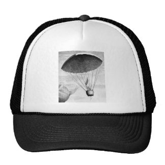 Hot Air Balloon Vintage Eighteenth Century Mesh Hats