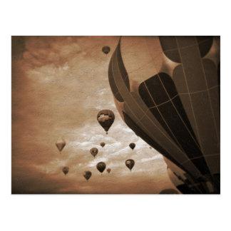 Hot Air Balloon Vintage Photograph Postcards
