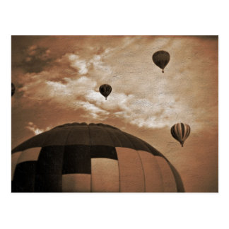 Hot Air Balloon Vintage Photograph Post Cards