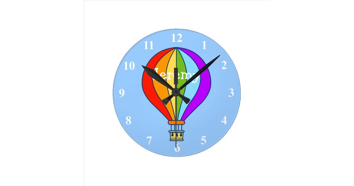 Hot Air Balloon Wall Clock For Kids Room Zazzle