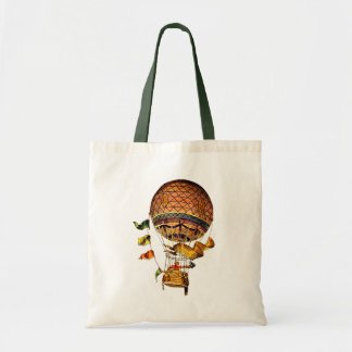 Hot Air Balloon with Flags Budget Tote Bag
